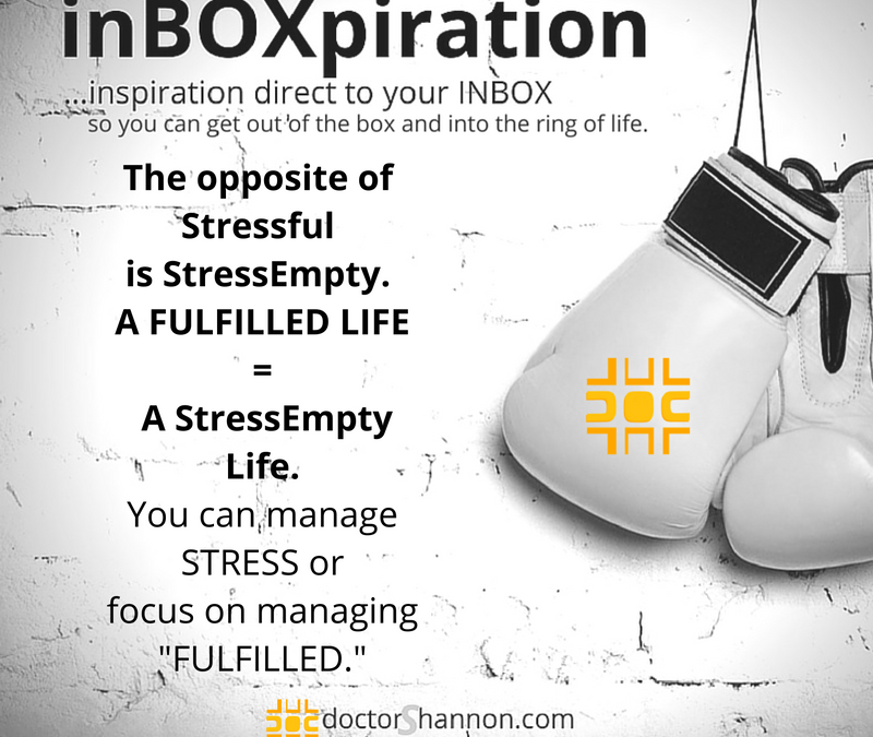 """Stop Managing Stress and Manage """"FULFILLED"""""""